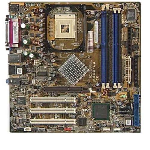 Asus P4SD-LA Intel Socket 478 8x 4x DDR 32MB 4x 4x 2.1 10/100 RJ 45 2x SATA