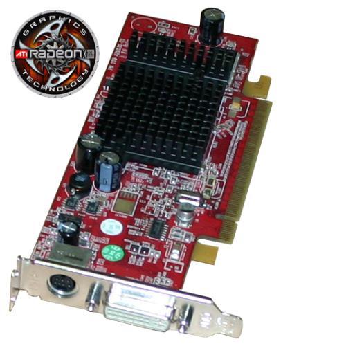 ATI Radeon X300 64MB Low Profile Ati Radeon X300 Grafik PCI- E DVI, S-Video