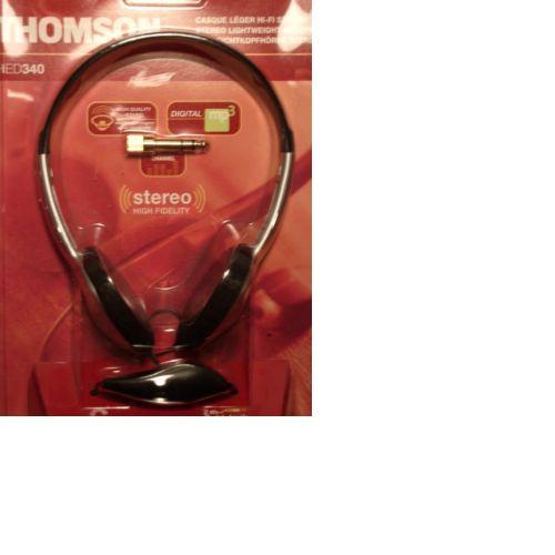 Thomson HED340 Stereo Silber/Schwarz Kopfhörer