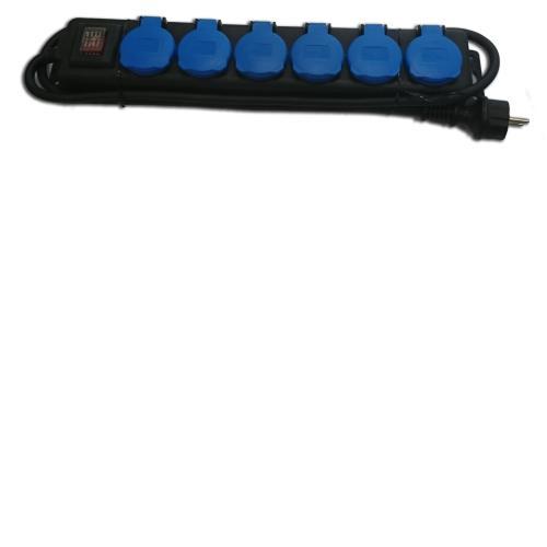 AS Schwabe 6-fach Verteilersteckdose H07RN-F 3G1,5 IP44