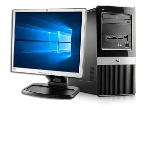 HP Pro 3010 MT Intel Core2Duo E7500 2930MHz 4GB 320GB DVD-RW Win 10 Pro MT+HP 19