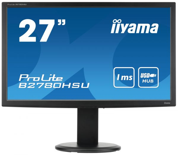 """iiyama ProLite B2780HSU-B2 27"""" 1920 x 1080 300 cd/m² 1ms VGA & HDMI DVI Schwarz USB Hub"""