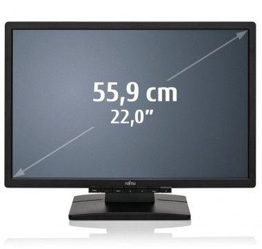 """Fujitsu E22W-6 LED 22"""" 1680 x 1050 250 cd/m² 5ms VGA DVI Schwarz TCO05 Lautsprecher"""
