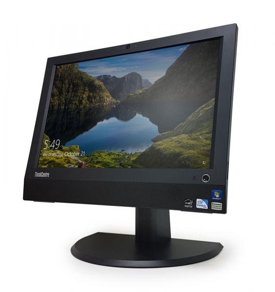 "Lenovo ThinkCentre A70z Intel E5800 3,2GHz 4GB 256GB SSD Slim DVD 19"" Win 7 Pro"